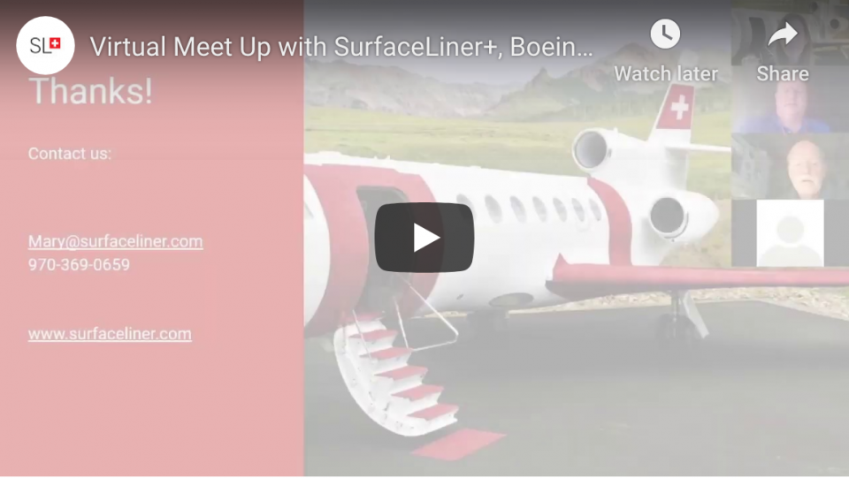 SurfaceLiner+ Virtual Meet Up with Boeing and Cosgrove